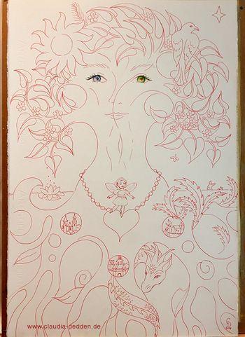 Lebensbaum Skizze