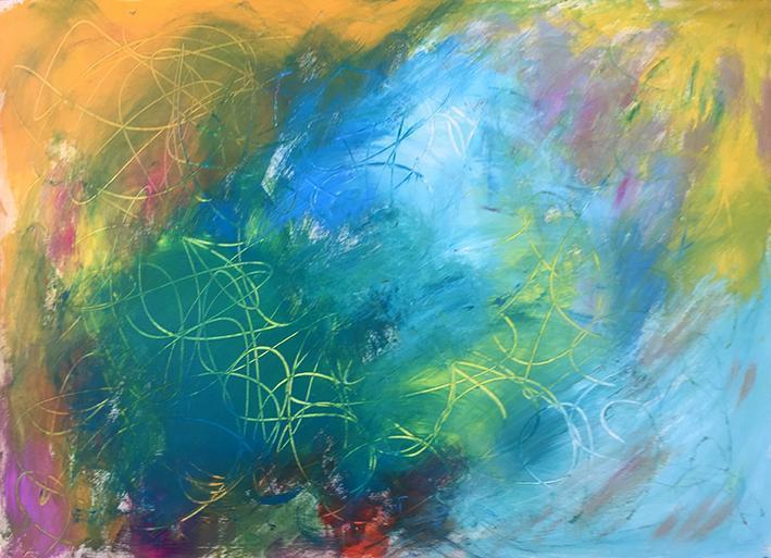 Abstraktes Bild Claudia Dedden