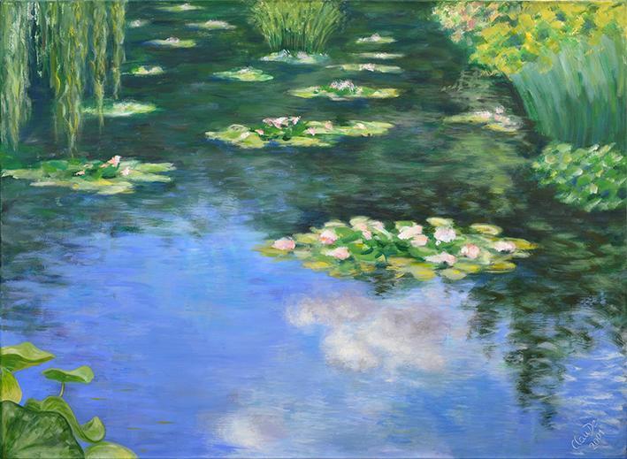 Seerosen Teich im Garten von Monet