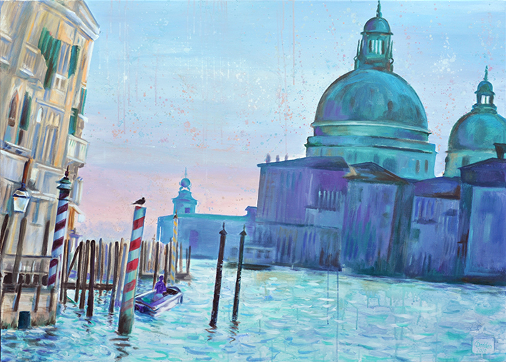 Venedig, Salutekirhe, Acryl auf Leinwand