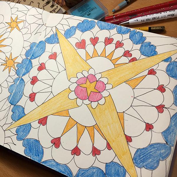Mandala Magisches Maltagebuch
