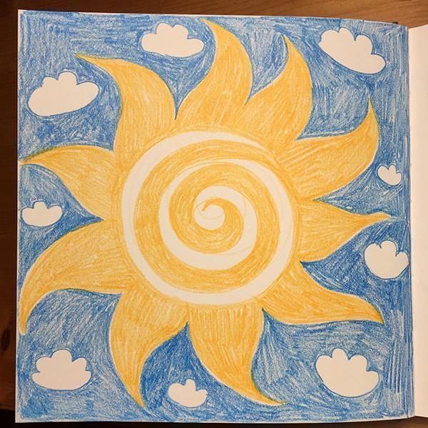 Sonne Magisches Maltagebuch
