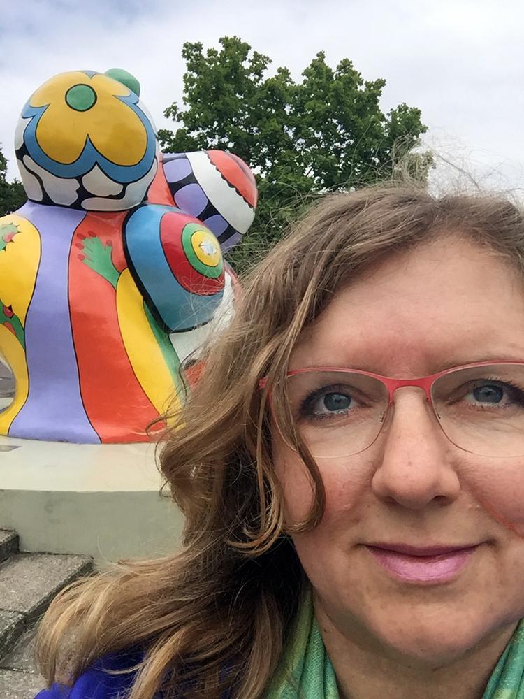 Claudia Dedden am Leineufer in Hannover