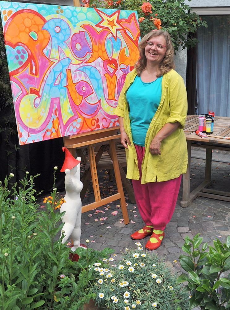 Claudia Dedden und die Nana