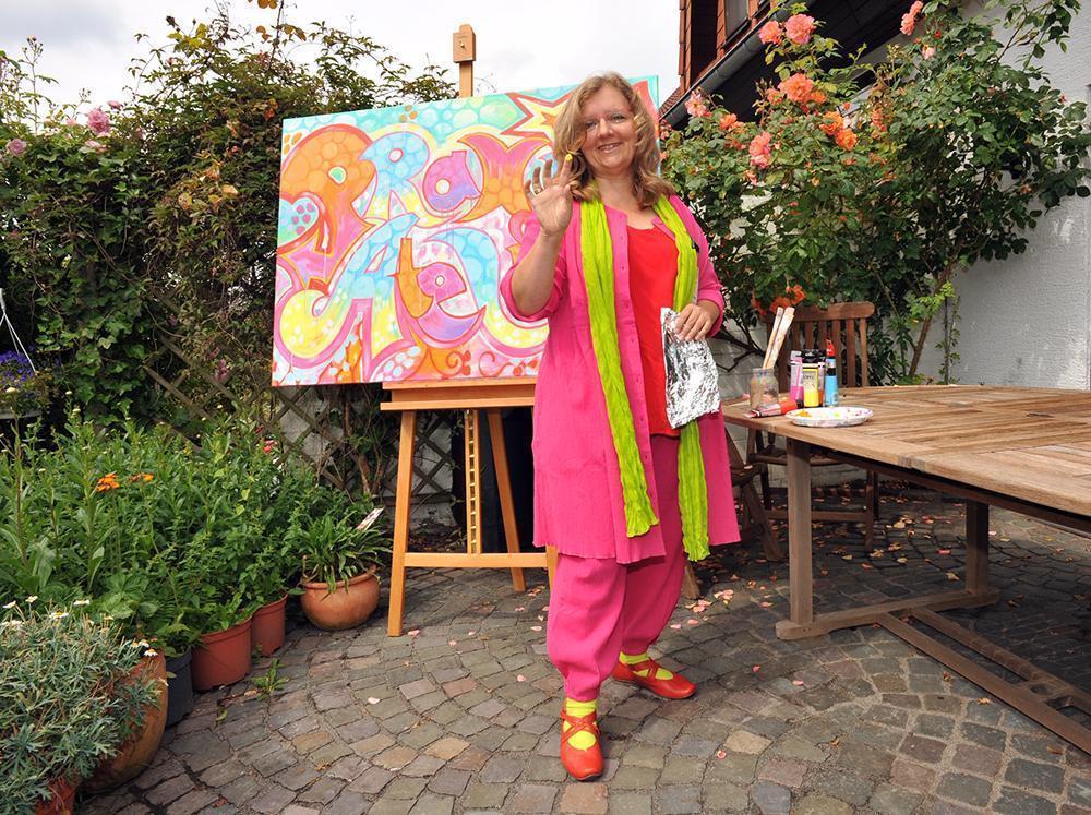 Claudia Dedden malt
